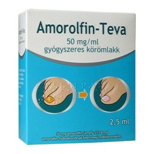 AMOROLFIN-TEVA 50MG/ML GYÓGYSZERES KÖRÖMLAKK 1X2,5ML