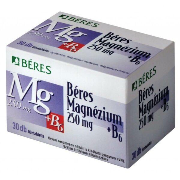 BÉRES MAGNÉZIUM 250MG + B6 FILMTABLETTA 30X