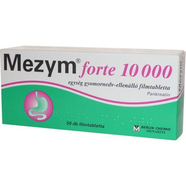 MEZYM FORTE 10000 E GYOMORNEDV ELLENÁLLÓ FILMTABLETTA  50X