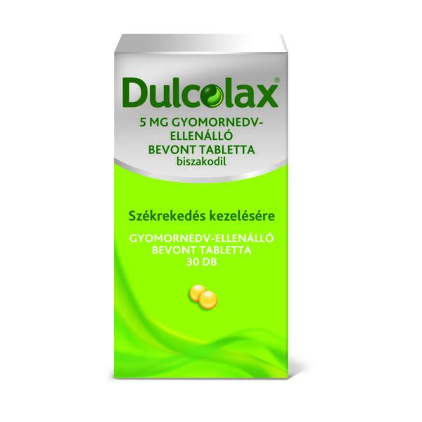 DULCOLAX 5MG GYOMORNEDV ELLENÁLLÓ BEVONT TABLETTA 30X