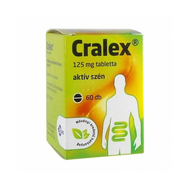 CRALEX 125MG TABLETTA 60X (RÉGI NÉV: CARBO ACTIVATUS EGIS)
